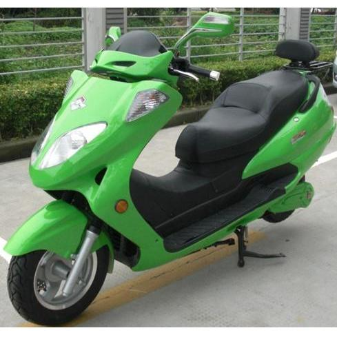 Electric Motorcycle Green